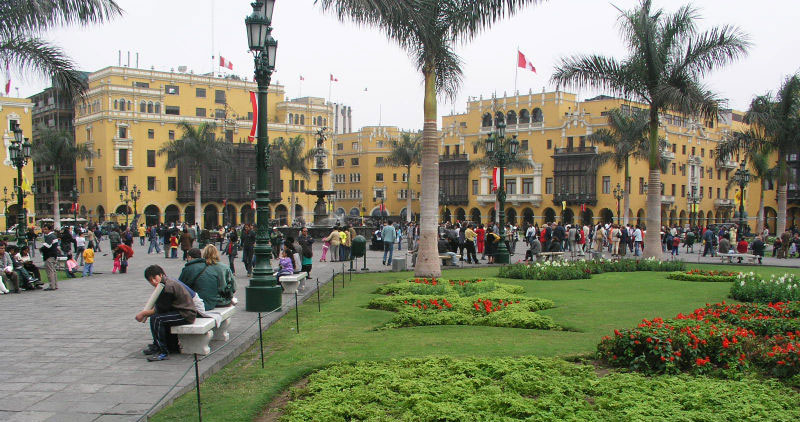 Plaza de Mayor in Lima