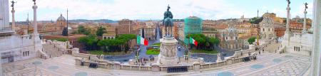 Beliebte Urlaubsziele - das Panorama von Rom