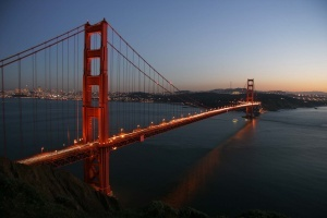 Bau der Golden Gate Bridge